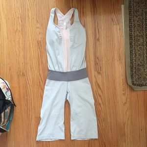 Lululemon jumpsuit - Size 2 Soft Grey and Pink